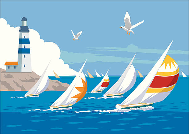 Yacht Race vector art illustration