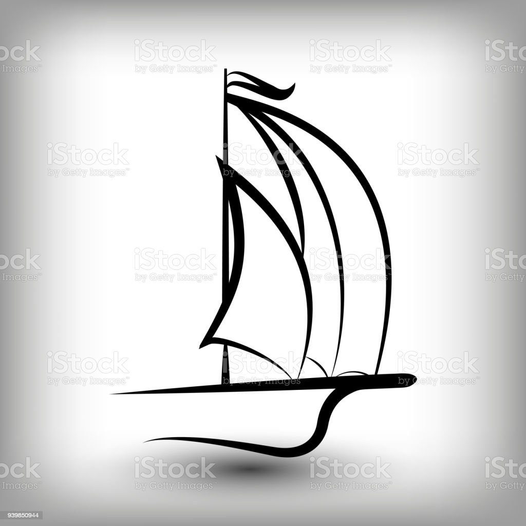 yacht templates sail boat silhouettes stock vector art more images