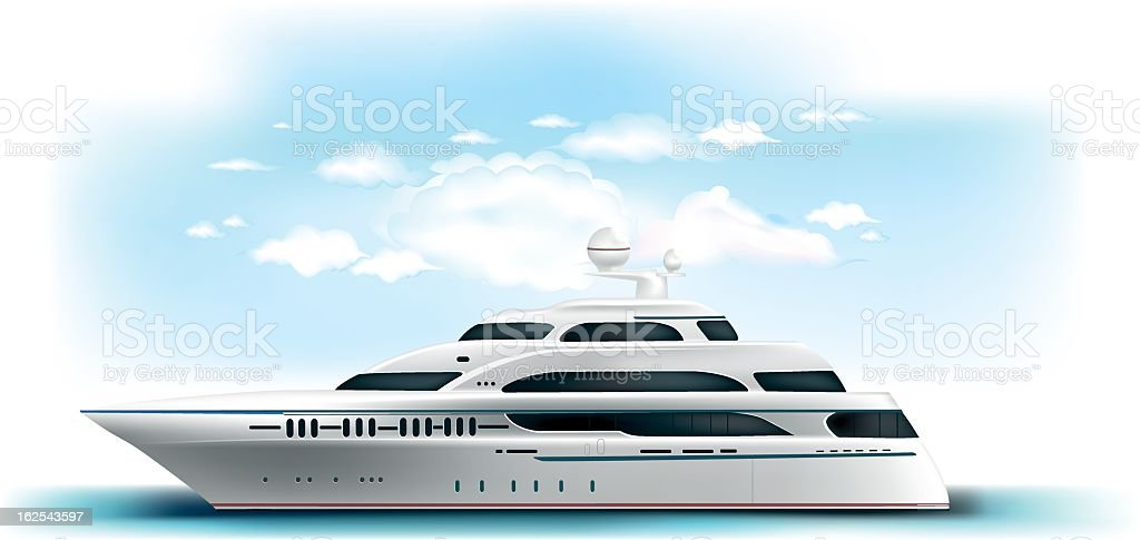yacht vector art illustration