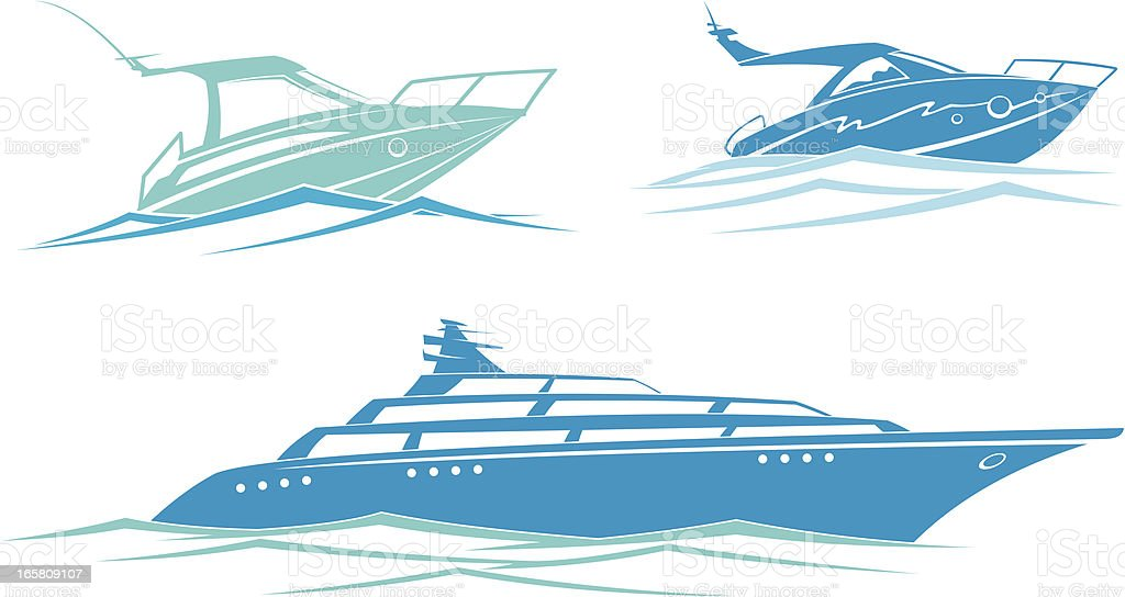 Yacht royalty-free yacht stock vector art & more images of blue