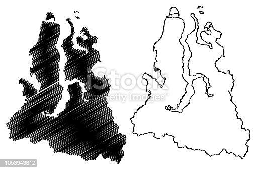 istock Yamalo-Nenets Autonomous Okrug map vector 1053943812
