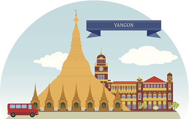 yangon, myanmar - burma home do stock illustrations