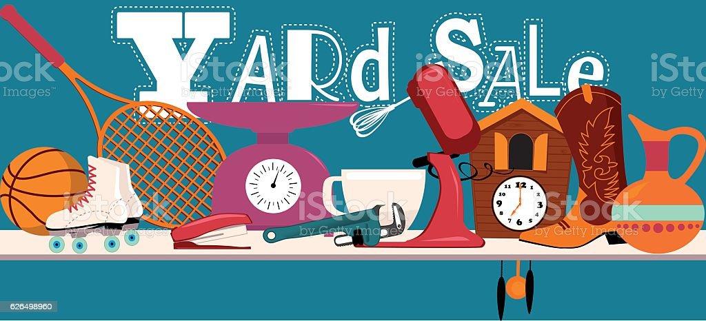Yard Sale Banner vector art illustration