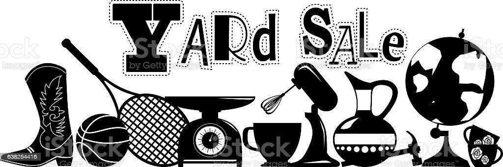 Yard sale sign - Illustration vectorielle