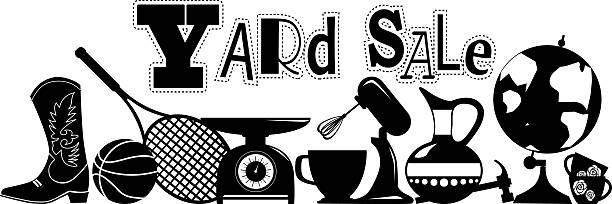 yard sale sign vector art illustration