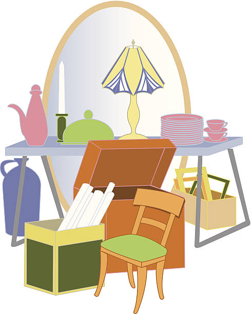 Best Yard Sale Illustrations, Royalty-Free Vector Graphics ...
