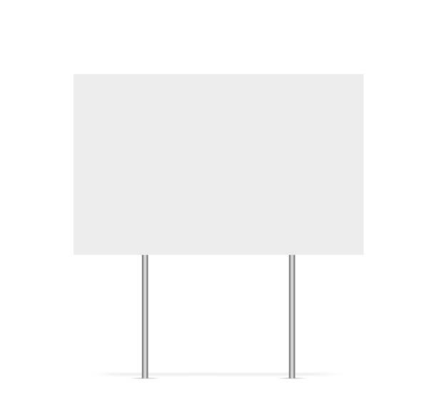 bildbanksillustrationer, clip art samt tecknat material och ikoner med yard tecken vektor isolerade tomma element. kopiera utrymme. horisontell reklam banner. mockup horisontell. vektorbanner. - skylt