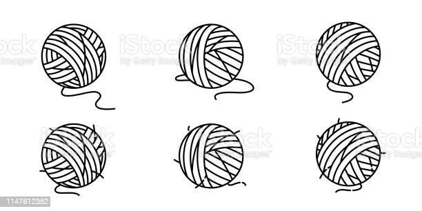 Yarn ball vector icon balls of yarn knitting needles cat toy symbol vector id1147612352?b=1&k=6&m=1147612352&s=612x612&h=k67wjuquo0rzhdmr8lxo6ehp0criyqyd lhp4iawsqc=
