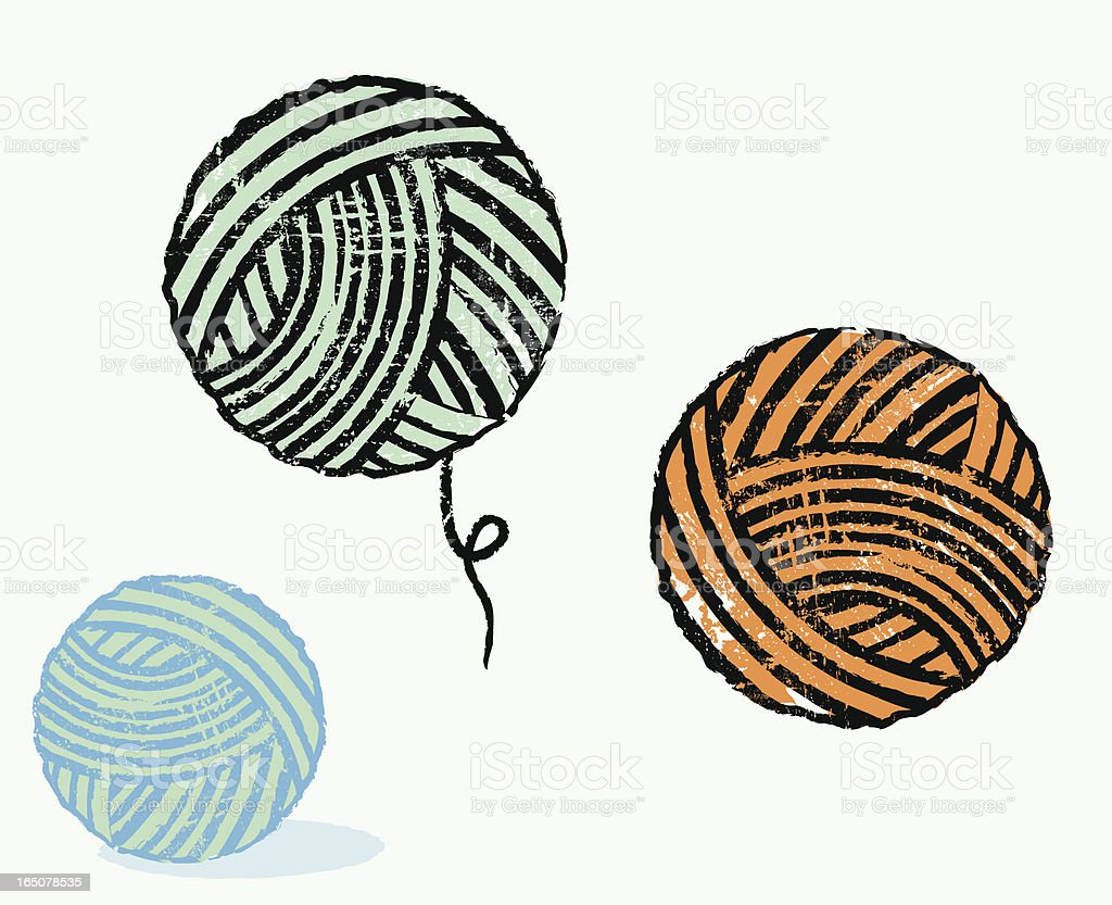 Yarn collection vector art illustration