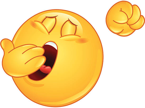 Yawn emoticono - ilustración de arte vectorial
