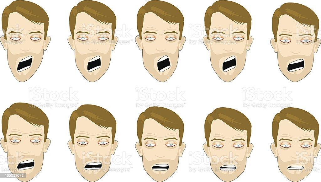 yawning royalty-free stock vector art
