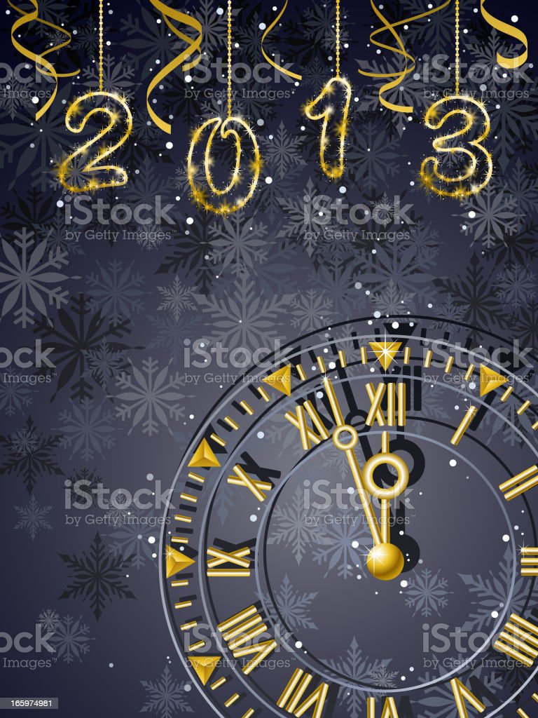 Year 2013 Countdown royalty-free stock vector art
