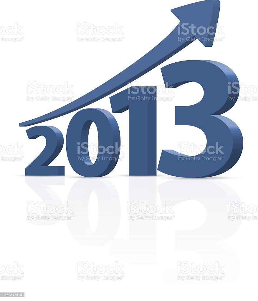 Year 2013 with arrow royalty-free year 2013 with arrow stock vector art & more images of 2013