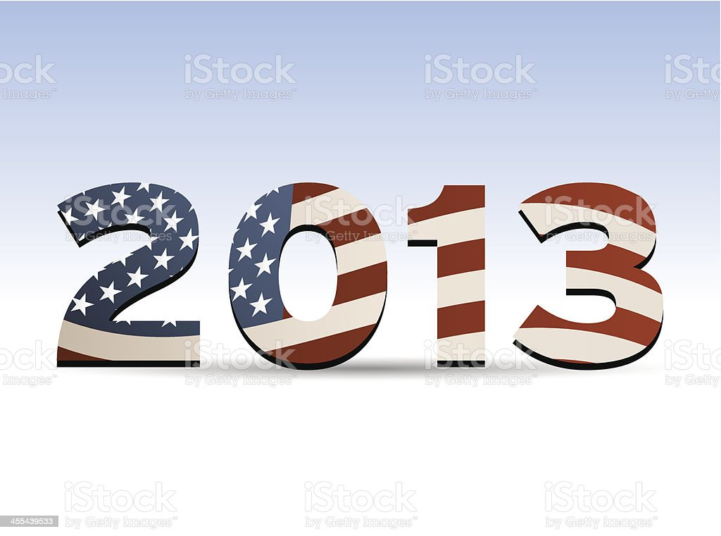 Year 2013 with Stars and Stripes royalty-free year 2013 with stars and stripes stock vector art & more images of 2013