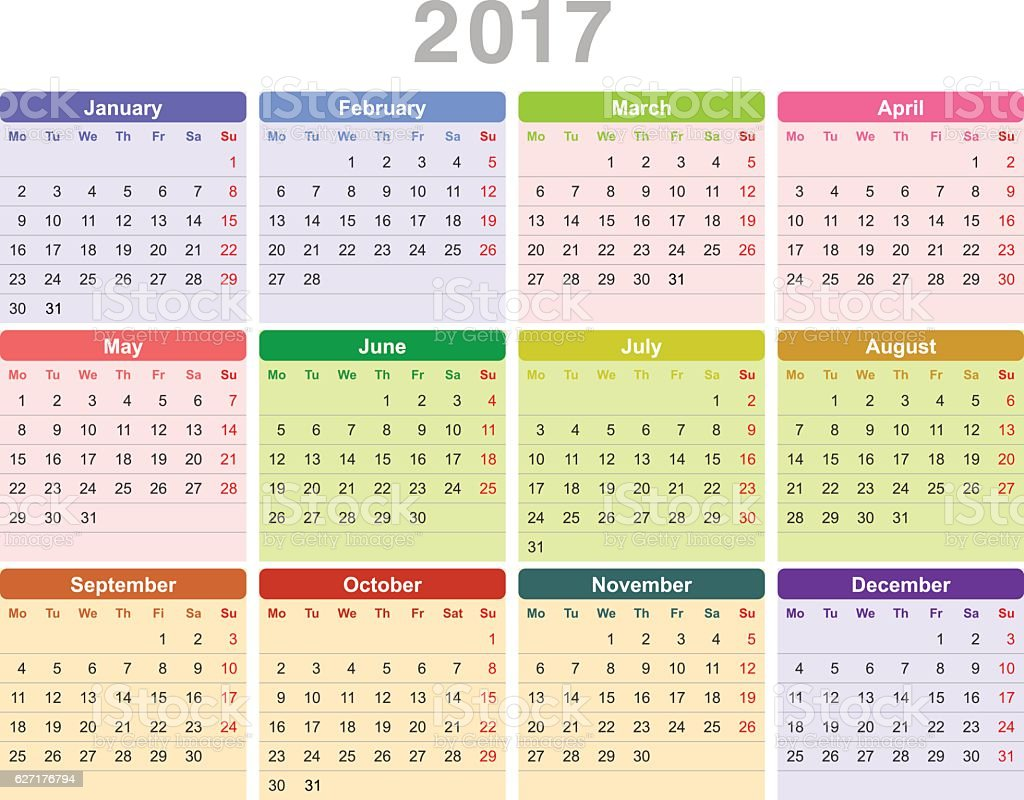 Year Zero Calendar : Year annual calendar stock vector art more images