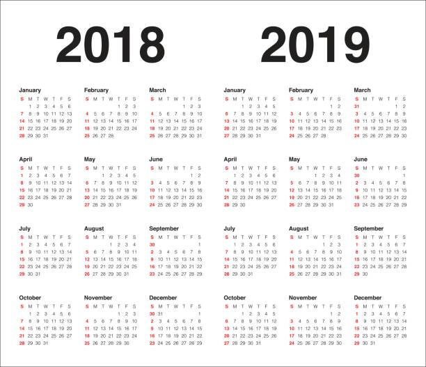 Year Calendar Graphic : Royalty free clip art vector images illustrations