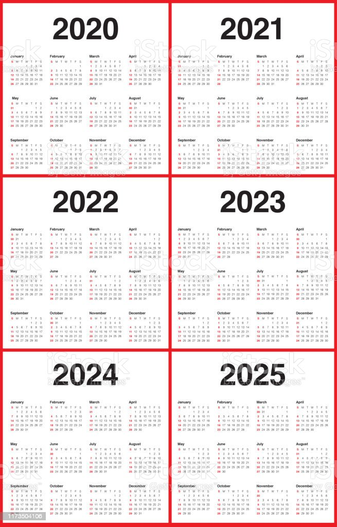 Calendrier 2022 2023 Top 14 Year 2020 2021 2022 2023 2024 2025 Calendar Vector Design Template