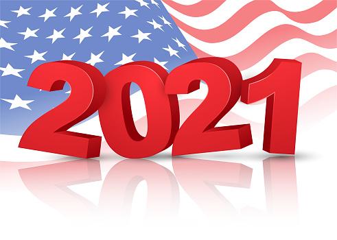 Year 2021 - American flag