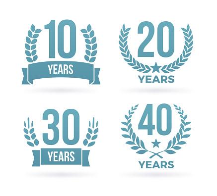 Year Anniversary Award Badges