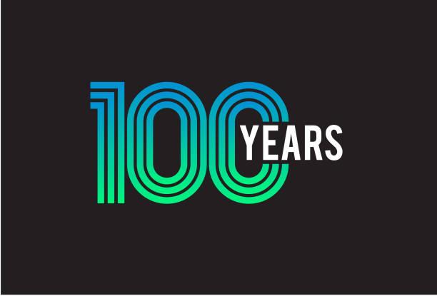 bildbanksillustrationer, clip art samt tecknat material och ikoner med 100 års jubileum design - nummer 100