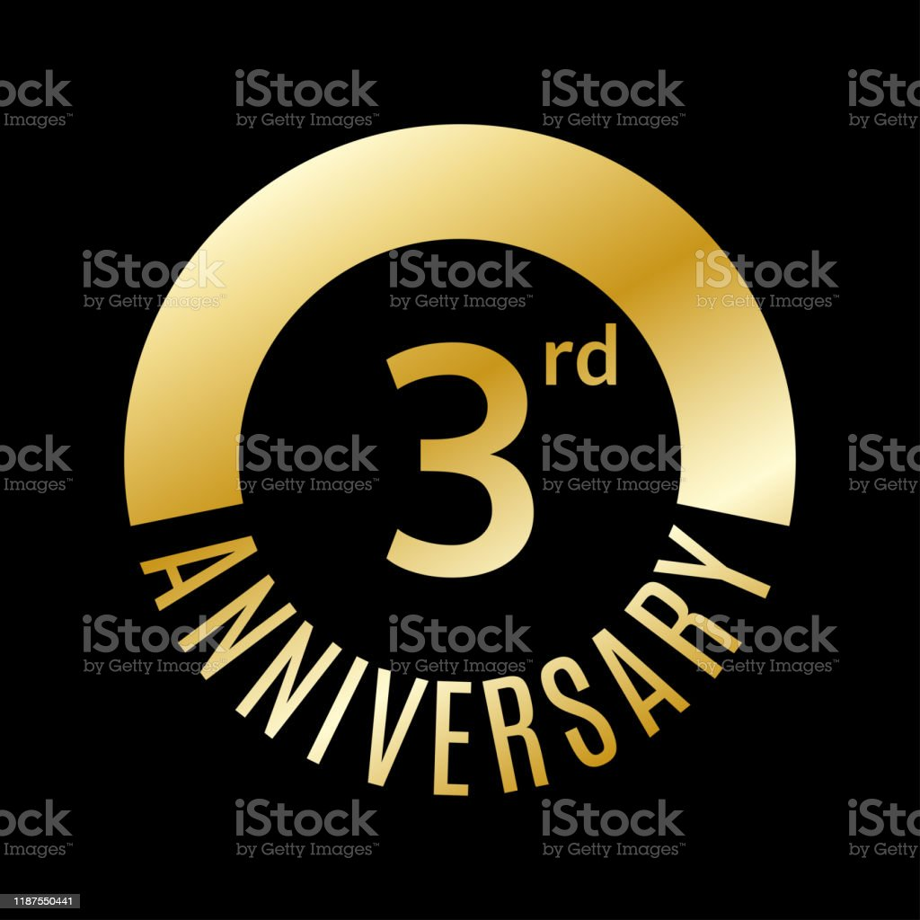 3 Year Anniversary Icon 3rd Celebration Template For Banner Invitation Birthday Vector Illustration Stock Illustration Download Image Now Istock