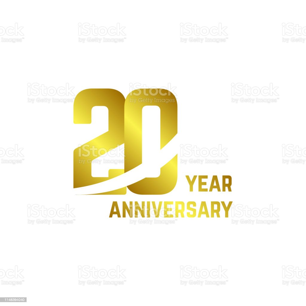 20 Ans Anniversaire Logo Vecteur Modèle Design Illustration Vecteurs
