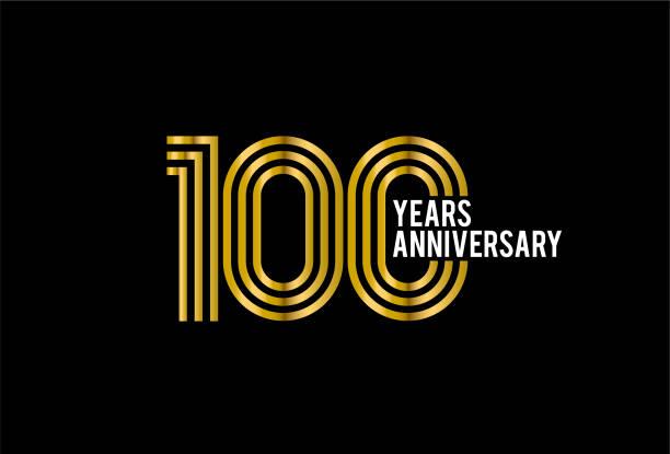 bildbanksillustrationer, clip art samt tecknat material och ikoner med 100 års jubileum - nummer 100