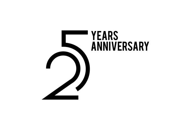 25 Year Anniversary vector art illustration