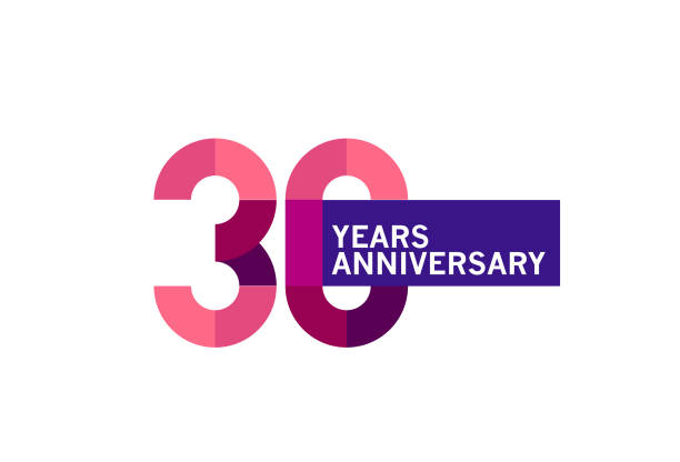 30 Year Anniversary vector art illustration