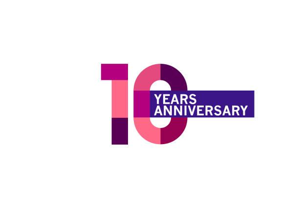 10 Year Anniversary vector art illustration