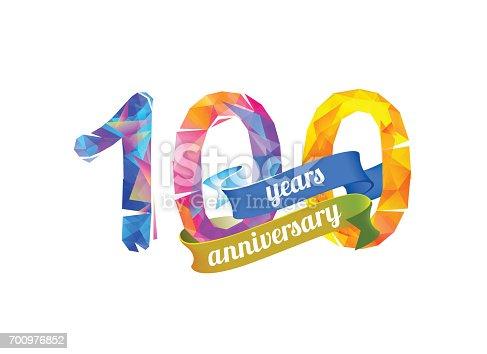 istock 100 (one hundred) year anniversary 700976852