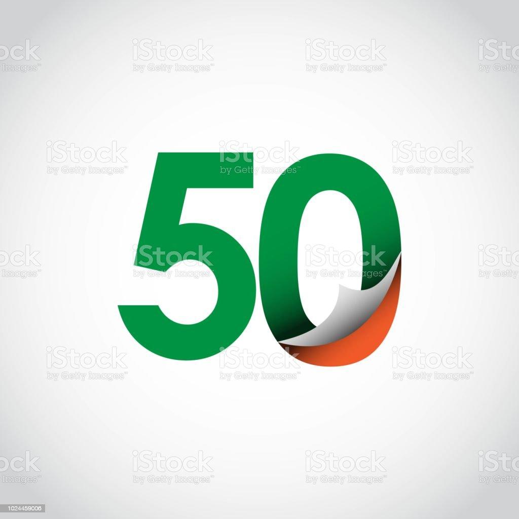 50 Year Anniversary Vector Template Design Illustration Stock Vector