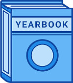 Year book line icon