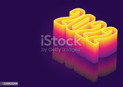 istock 2022 Year Glowing Numbers Background 1326803058