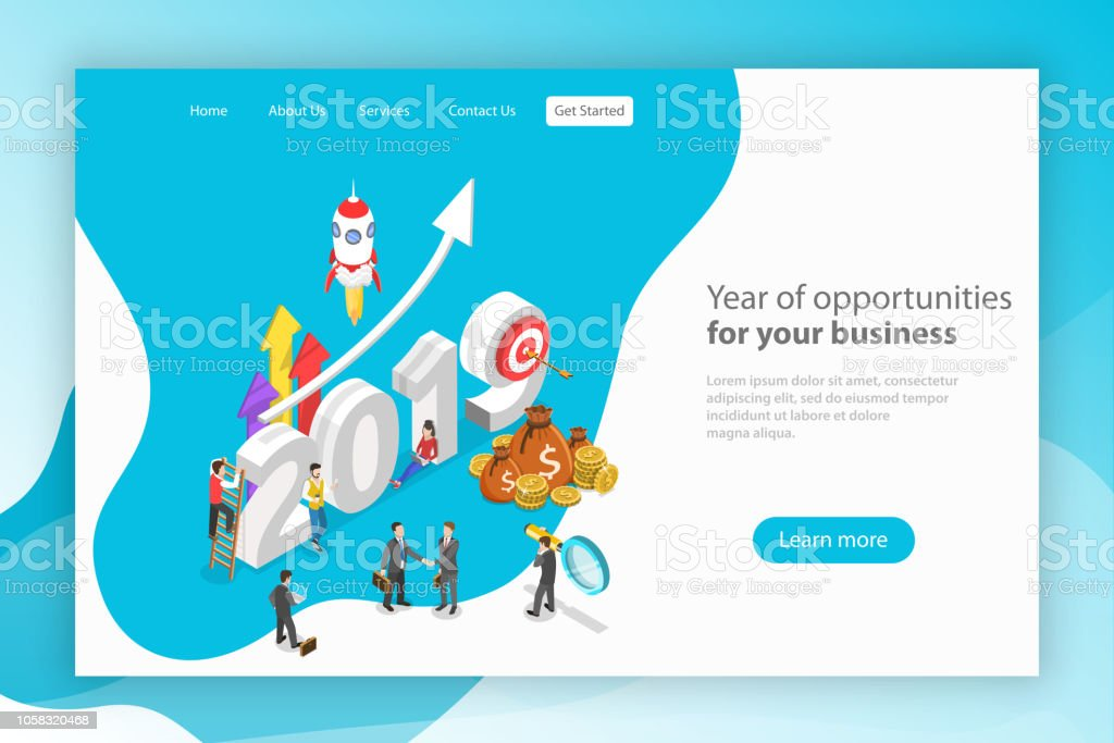 Jahr der Chancen für Unternehmen-Vektor. – Vektorgrafik