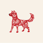 Chinese new year zodiac of the dog