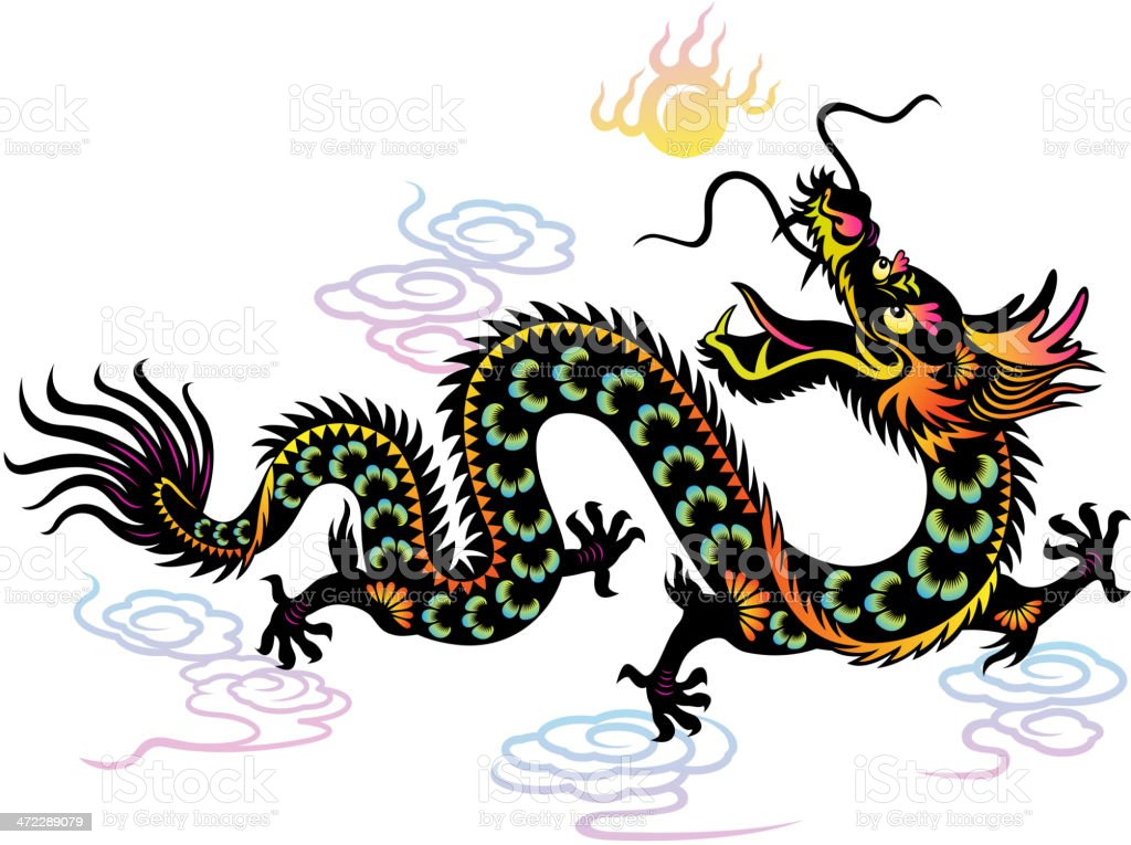 Year of the Dragon Colorful Paper-cut Art royalty-free year of the dragon colorful papercut art stock vector art & more images of ancient