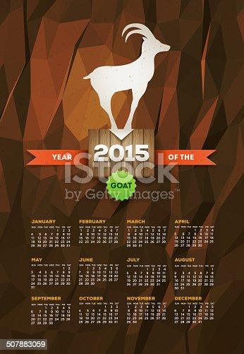 istock Year of the Goat 2015 Calendar 507883059