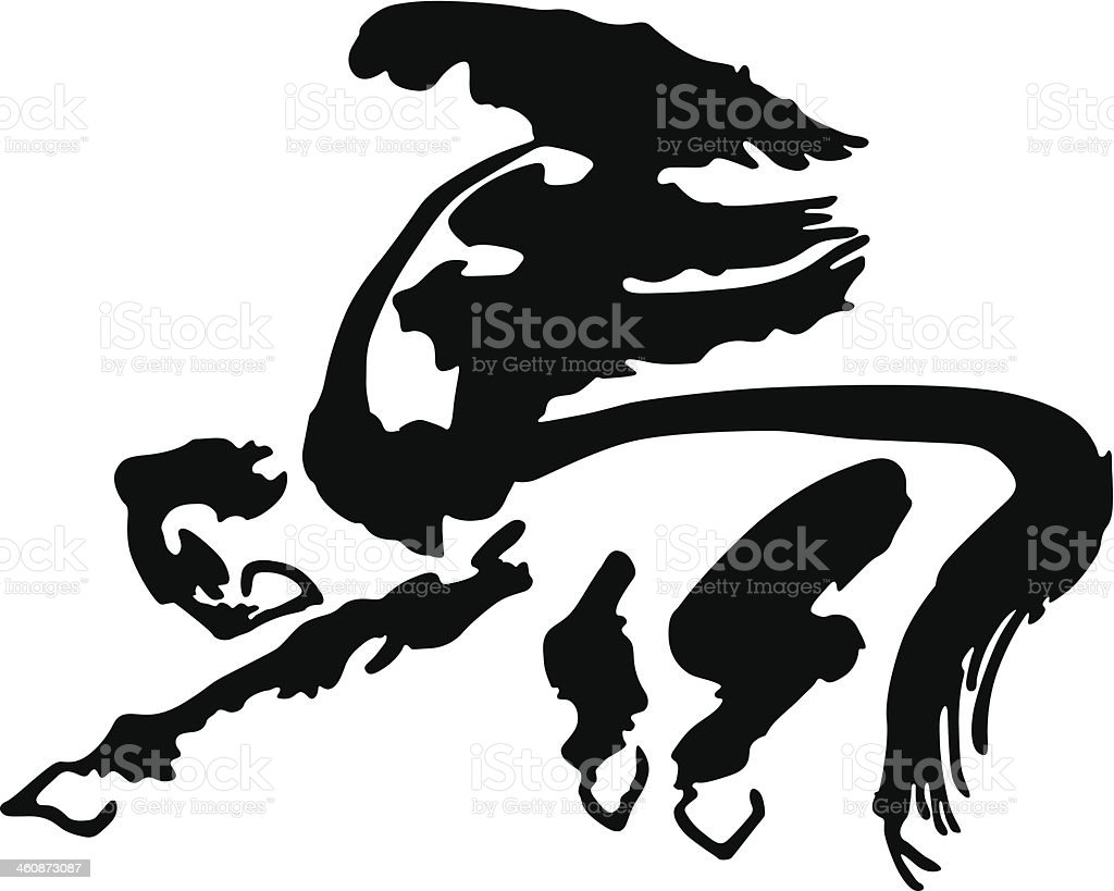 Year of the horse in 2014 royalty-free stock vector art