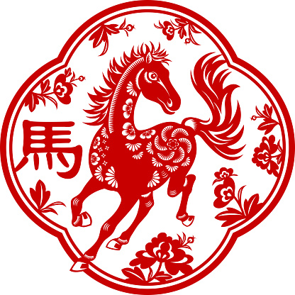 Year of the Horse Paper-cut Art