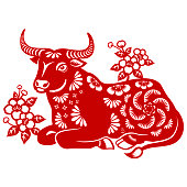 istock Year of the Ox Papercut 1273800488