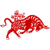 istock Year of the Ox Papercut 1294374128