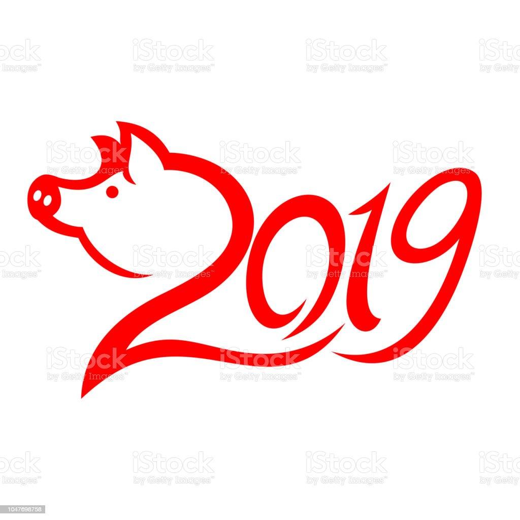 Jahr Des Schweins 2019 Glückliches Neujahr Chinesisches Neujahr ...