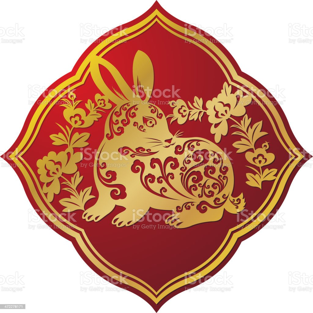 Year of the Rabbit royalty-free year of the rabbit stock vector art & more images of animal