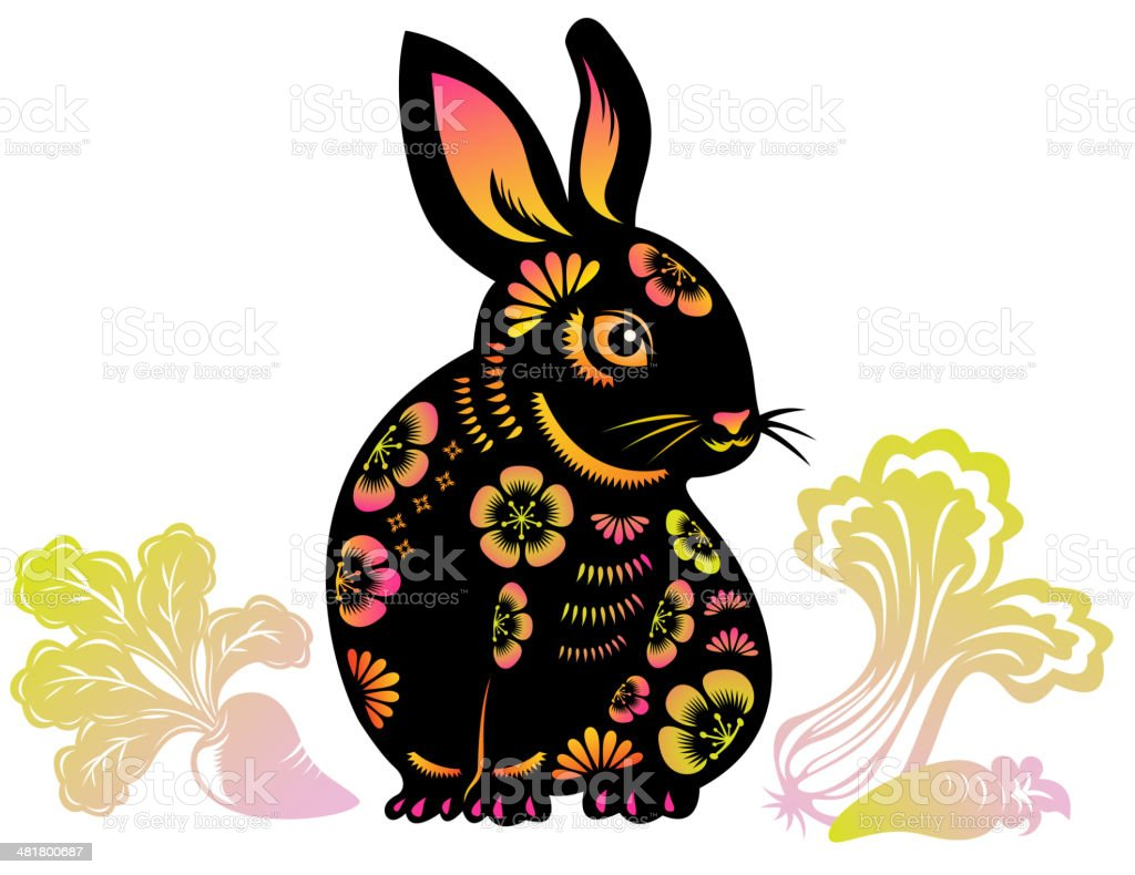 Year of the Rabbit royalty-free stock vector art