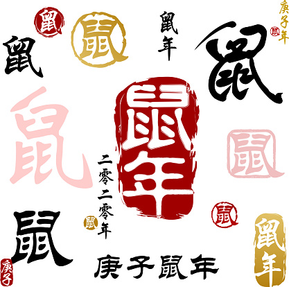 Year Of The Rat Calligraphy 2020