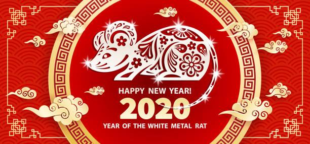 ilustraciones, imágenes clip art, dibujos animados e iconos de stock de 2020 año de la rata - calendario de flores