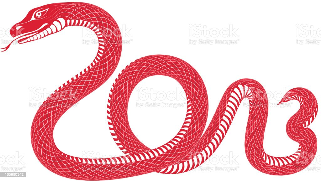 Year of the snake 2013 royalty-free stock vector art