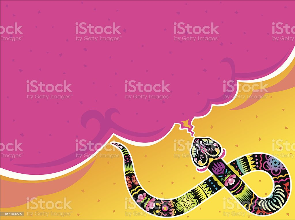 Year of the Snake background royalty-free stock vector art