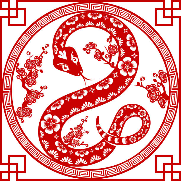 Royalty Free Year Of The Snake Clip Art Vector Images
